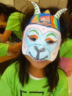 Monkey King mask from my book; FCC Austin runs an amazing Chinese culture camp and they were kind enough to share my crafts with their campers! www.luckybamboocrafts.com