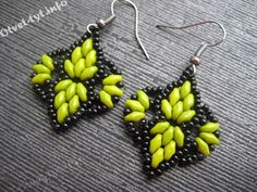DENTELLE Earrings - FREE Tutorial by Lena on otvet-tyt.info. In Russian, good photos (translate). Use: Czech seed beads (11/0), SuperDuo beads