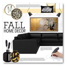 """""""Fall Home Decor"""" by beebeely-look ❤ liked on Polyvore featuring interior, interiors, interior design, home, home decor, interior decorating, Maison Margiela, H&M, Jonathan Adler and Pillow Decor"""
