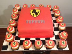 Ferrari Birthday Cake with Cupcakes by Cupcakes2di4