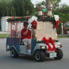 10 Best Christmas Golf Cart Images Christmas Crafts Diy Christmas