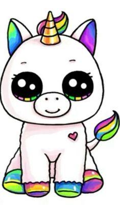 unicorno Kawaii e seguite Irene Rossi fa schifo. grazie - para dibujar arte a lápiz de chicas kawaii dibujo