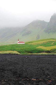 Isolated church, Vik, Iceland