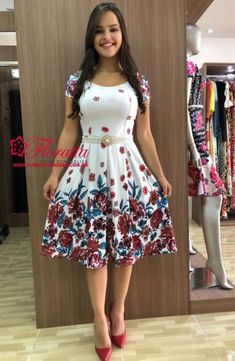 Cheap Dresses, Casual Dresses, Short Dresses, Girls Dresses, Cute Floral Dresses, Pretty Dresses, Modest Fashion, Fashion Outfits, Frock Patterns