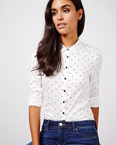 Blouse extensible en coton satiné