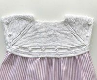 Patterns :: miloti and dot- Patrones :: miloti y punto Patterns - Knit Baby Sweaters, Knitted Baby Clothes, Baby Knits, Baby Cardigan, Knitting For Kids, Baby Knitting, Toddler Dress, Baby Dress, Tricot Baby
