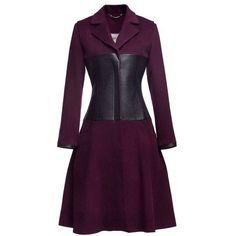 Oba Urban Warrior Prune Coat ($631) ❤ liked on Polyvore featuring outerwear, coats, prune, purple coat, urban coats, faux leather coat and vegan coats