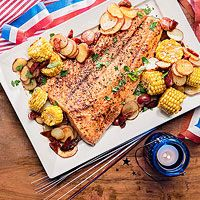 Smoky Salmon Bake (follow directions and it is guaranteed to slide off the grill :-)
