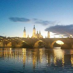 El Ebro guarda silencio... Zaragoza! by salasfdiego