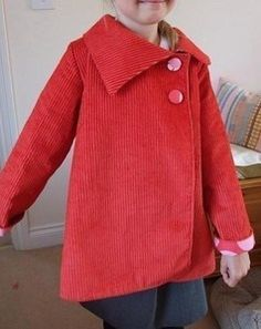 This listing is for the tutorial and pattern to make a reversible asymmetrical jacket of your own! The coat has an a-line shape, asymmetrical collar, and two button closure to the side of the chest. It can be folded up at the sleeve edges to get maximum length of wear. The coat is also fully reversible so you get two coats in one! It has a more cropped, swing fit than the double breasted coat.
