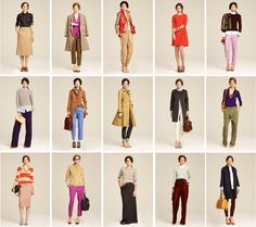 j.crew, fall 2011 collection-love the color combos