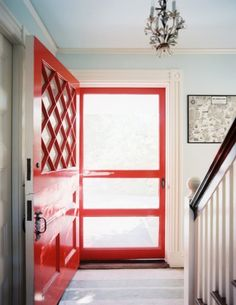 Is that a super glam cherry red Dutch door?