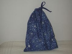Medium Blue Glitter Stars Wrapping Bag by CrazyAuntBettyBags on Etsy