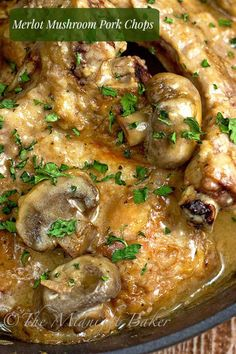 Pork chops with mushrooms, Mushroom gravy and Pork chops on Pinterest
