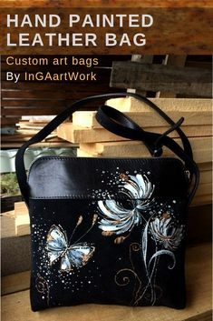 Items similar to Everyday custom black bag with painted winter wonderland art. Black leather shoulder women bag on Etsy – Modalbox Leather Gifts, Leather Bags Handmade, Painted Bags, Art Bag, Painting Leather, Custom Bags, Leather Accessories, Purses And Handbags, Leather Purses