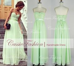 Custom Sexy Draped Strapless Sweetheart Floor Length Chiffon Prom Gowm Dresses Bridesmaid Dresses Wedding Cocktail Dress