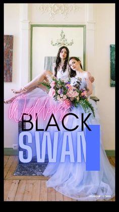 Wedding After Party, Girls Dresses, Flower Girl Dresses, Lesbian Wedding, Wedding Ceremony Decorations, Black Swan, Purple Wedding, Wedding Planner, Wedding Dresses
