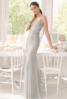 2015 Silver sequin bridesmaid dresses by Airebarcelona