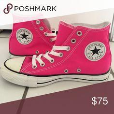 Hot pink converse high top | Pink