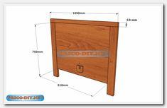 Camas de madera /Plano con medidas de una plaza y media