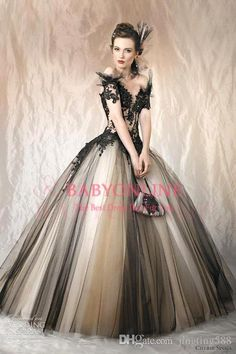Let charming wedding dresses from china on DHgate.com get your heart. Besides, wedding dresses short and wedding dresses with straps are also winners.  2016 vintage cherie sposa ball gown wedding dresses off the shoulder black champagne beads appliqued backless corset bridal gown belong to you and jingting588 can cheer you up.