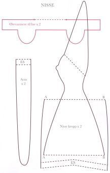 Tilda Nisse  pattern for elf-like doll. Lots more patterns & ideas. In Spanish.