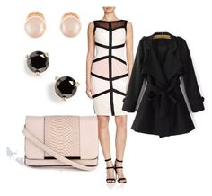 """""""Neutral Colorblock"""" by raya81084 on Polyvore featuring Jax, Kenneth Jay Lane, Kate Spade, women's clothing, women, female, woman, misses and juniors"""