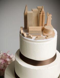 A Simple Cake: Wedding Cake Topper: NYC Skyline