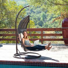 Christopher Knight Home Outdoor Brown Wicker Swinging Lounge Chair | Overstock.com Shopping - Great Deals on Christopher Knight Home Hammock...