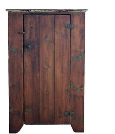 Primitive chimney cupboard painted country style reproduction rustic farm custom cabinet. $550.00, via Etsy.