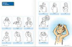 Picto's gebaren badkamer