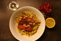 Low Carb Konjak Spaghetti Salat - mit Rindfleisch & Mango Chili, Spaghetti, Low Carb, Pasta, Beef, Ethnic Recipes, Food, Delicious Dishes, Skinny Recipes