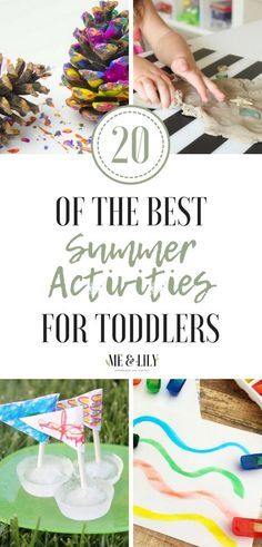 20 of the best summer activities for toddlers! Check out this list of toddler activity ideas like toddler water activities, toddler nature activities, toddler sensory activities, toddler water table, etc! All the activities are perfect for outdoors so you can spend all summer long outside with your toddler! #toddler #activities #summeractivities #wateractivities #sensoryplay