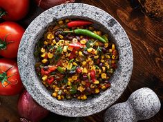 Food Torch Uses - Ideas for Culinary Torch Summer Side Dishes, Side Dishes Easy, Mole, Avocado Recipes, Healthy Recipes, Healthy Food, Sweet Corn Pudding, Black Bean Corn Salsa, Boite A Lunch