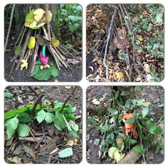 Den building at Forest School.