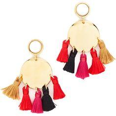 Lizzie Fortunato Fiesta II Earrings (13,015 INR) ❤ liked on Polyvore featuring jewelry, earrings, multi colored earrings, colorful earrings, tassel jewelry, tassel earrings and earring jewelry