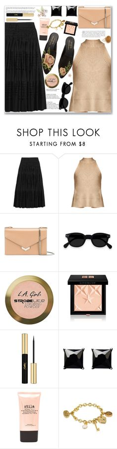 """Slip-on Mules"" by marialibra ❤ liked on Polyvore featuring Alaïa, palmer//harding, Jimmy Choo, Charlotte Russe, Givenchy, Yves Saint Laurent, Witchery, Stila, Disney and Ginette NY"