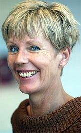 Karin Fossum, a great Norwegian mystery author.