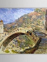 Peinture à l'huile célèbre pont de Dolceacqua p... – CAD $ 91.73
