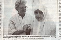 (and the translation is) The relationship between the elderly foreigner en the Dutch health care is somewhat difficult.