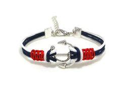 Anker armband anker sieraden nautische armband door DeluxeSparkle
