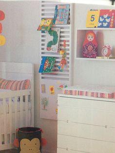 Estante de livros moderna quarto infantil