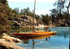 Sail boat in the Stockholm archipelago, Sweden  