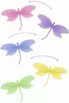 """Pink Purple Yellow Blue Green Jewel Dragonfly Mobile Decorations - mobiles hanging dragonfly nylon dragonflies girls room baby nursery bedroom wall ceiling decor bridal baby shower birthday party wedding favor craft decoration by Bugs-n-Blooms. $15.95. 5 dragonflies strung together into a mobile, piece of fishing line & hoop for easy hanging to any ceiling. Visit our Amazon store for more great items: www.amazon.com/shops/Bugs-n-Blooms. These nylon 5"""" dragonflies have pretty je..."""