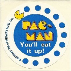 Vintage 80's Midway PacMan I'll Eat You Up by Stuckonstickers
