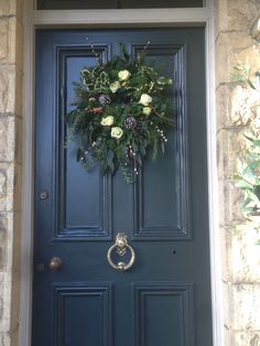 For my front door I loved the chalky black of Farrow & Ball's Off Black.