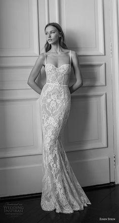 eisen stein 2018 bridal sleeveless thin strap sweetheart neckline full embellishment elegant sheath fit and flare wedding dress open back sweep train (3) mv -- Eisen Stein 2018 Wedding Dress