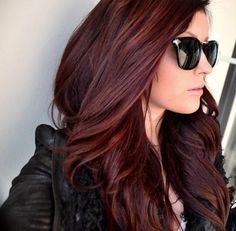 Long Curled Dark Red Auburn Ombre Hair With Black Monogram Ombre Auburn Hair Ombre Auburn Hair