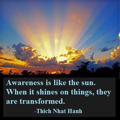 Awareness Transforms ~Thich Nhat Hanh
