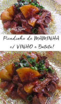 Picadinho de Maminha com Batata para lá de especial, cheia de segredos e aromas. Uma receita bem técnica, com segredo de chef e facílima de fazer!